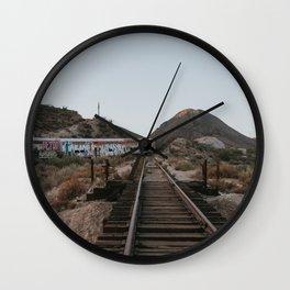 Derailed Train Wall Clock