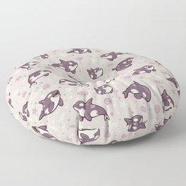 Jelly bean orcas Floor Pillow