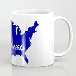 Love America USA Map Silhouette Coffee Mug