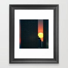 In & Between Framed Art Print