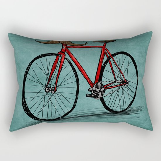 Baffi Bici Rectangular Pillow