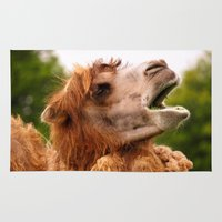 camel Area & Throw Rugs featuring Camel by GardenGnomePhotography