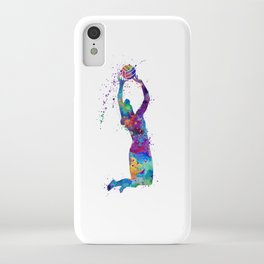 Volleyball Girl Setter Colorful Watercolor Art iPhone Case