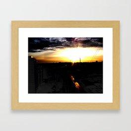 Fire in the sky(1) Framed Art Print