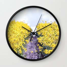 Walk Through the Yellow Wall Clock
