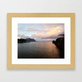 Kahaluu Sunset Framed Art Print