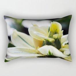 Blooming White Rectangular Pillow