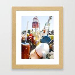 buoys photography Framed Art Print