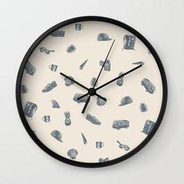 Sur la Plage Wall Clock