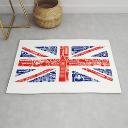 Great Britain Landmark Flag Rug