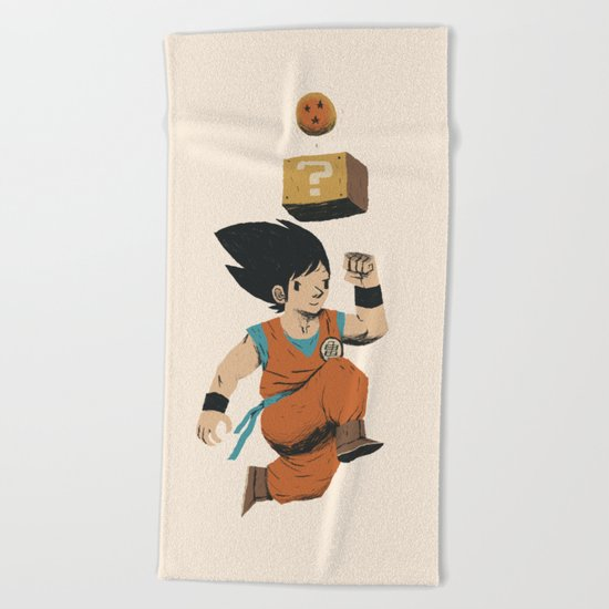 DB question block Beach Towel