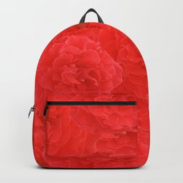 Dreamy Red Crimson Garden Roses Floral Pattern Backpack
