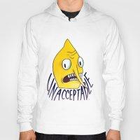 lemongrab Hoodies featuring Unacceptable | Lemongrab by ScarlettDesigns