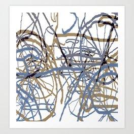 Bicycle Meeting II Art Print