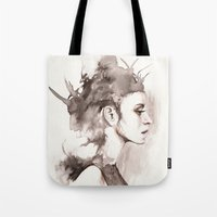 hydra Tote Bags featuring Hydra by BookOfFaces