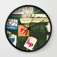 stickers Wall Clocks featuring stickers by kazmcart