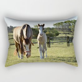 Mom and baby India Rectangular Pillow