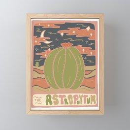 Cactus Tarot Cards- Astrophytum Framed Mini Art Print