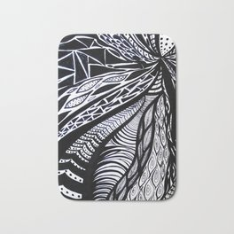 Gaia's Garden in Black & White 3 Bath Mat