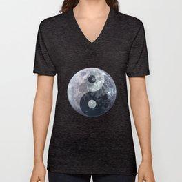 Yin Yang Moon Unisex V-Neck