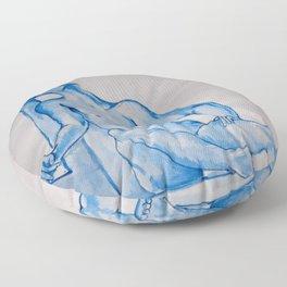 Monochrome Despair - watercolour human anatomy Floor Pillow