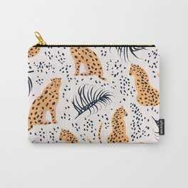 CHEETAHS & LEAVES Carry-All Pouch