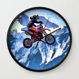 Mountain View - Dirt-bike Racer Wall Clock