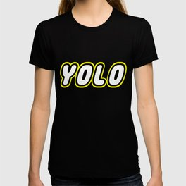 YOLO in Brick Font Logo Design by Chillee Wilson  T-shirt