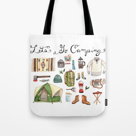 Let's Go Camping Tote Bag