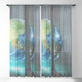 Earth Resting Sheer Curtain