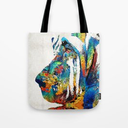 Colorful Bloodhound Dog Art By Sharon Cummings Tote Bag