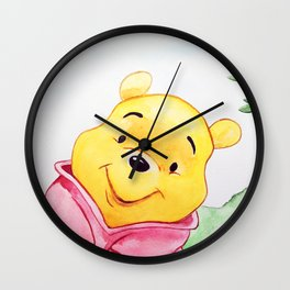 Winnie the Pooh, watercolor Wall Clock