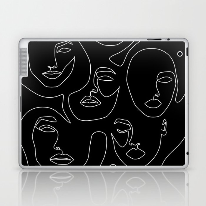 Faces in Dark Laptop & iPad Skin