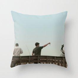 Here Birdie Birdie Birdie Throw Pillow