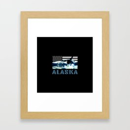 Alaskan Orca Framed Art Print