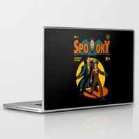 comic Laptop & iPad Skins featuring Spooky Comic by harebrained
