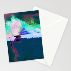 18-23-46 (Skyline Cloud Glitch) Stationery Cards