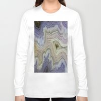 agate Long Sleeve T-shirts featuring Royal Aztec Lace Agate by The Agate Hunter