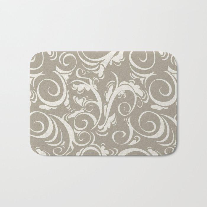 Gray Grey Alabaster Flora Bath Mat