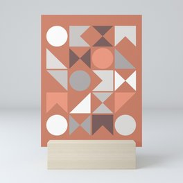 Mid Century Modern Geometric 18 Mini Art Print