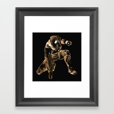 Iron Man Bronze Framed Art Print