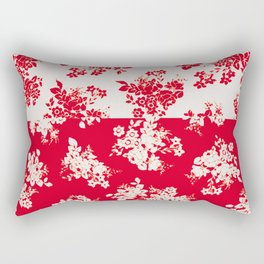 small bouquets in bright red with border Rectangular Pillow