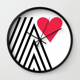 Valentine mountain Wall Clock