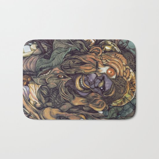 Hello & Goodbye (Hindu color style) Bath Mat