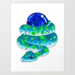 Snake Piece #28 - Support Materia Art Print