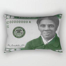 Proposed African American Icon Harriet Tubman Single U.S. Mint 20 Dollar bill Rectangular Pillow
