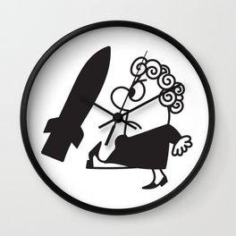 Stop de Neutronenbom Cartoon Wall Clock