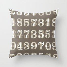 Clarendon Numbers Throw Pillow