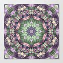 Fractal Ribbon Mandala in Purple, Green, Pink and Yellow by kellydietrich