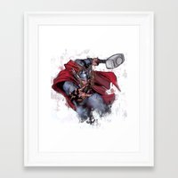 thor Framed Art Prints featuring Thor by Isaak_Rodriguez